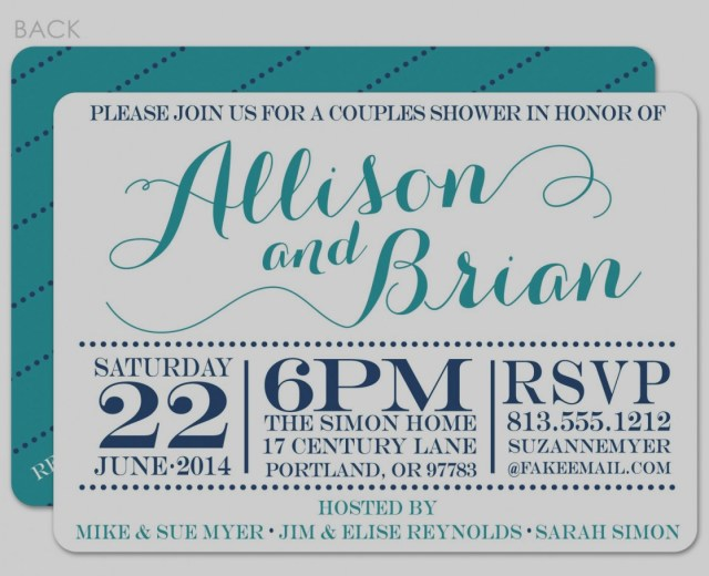 Couples Wedding Shower Invitations 2019 Couples Bridal Shower Invitations Eventinvitationtemplates