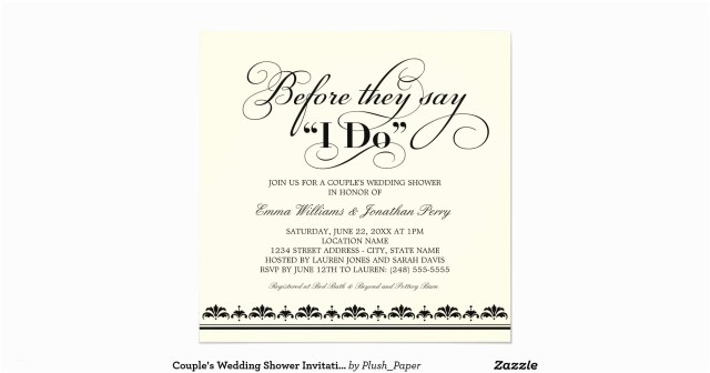 Couples Wedding Shower Invitations Couples Wedding Shower Invitations Cute Couple Bridal Shower