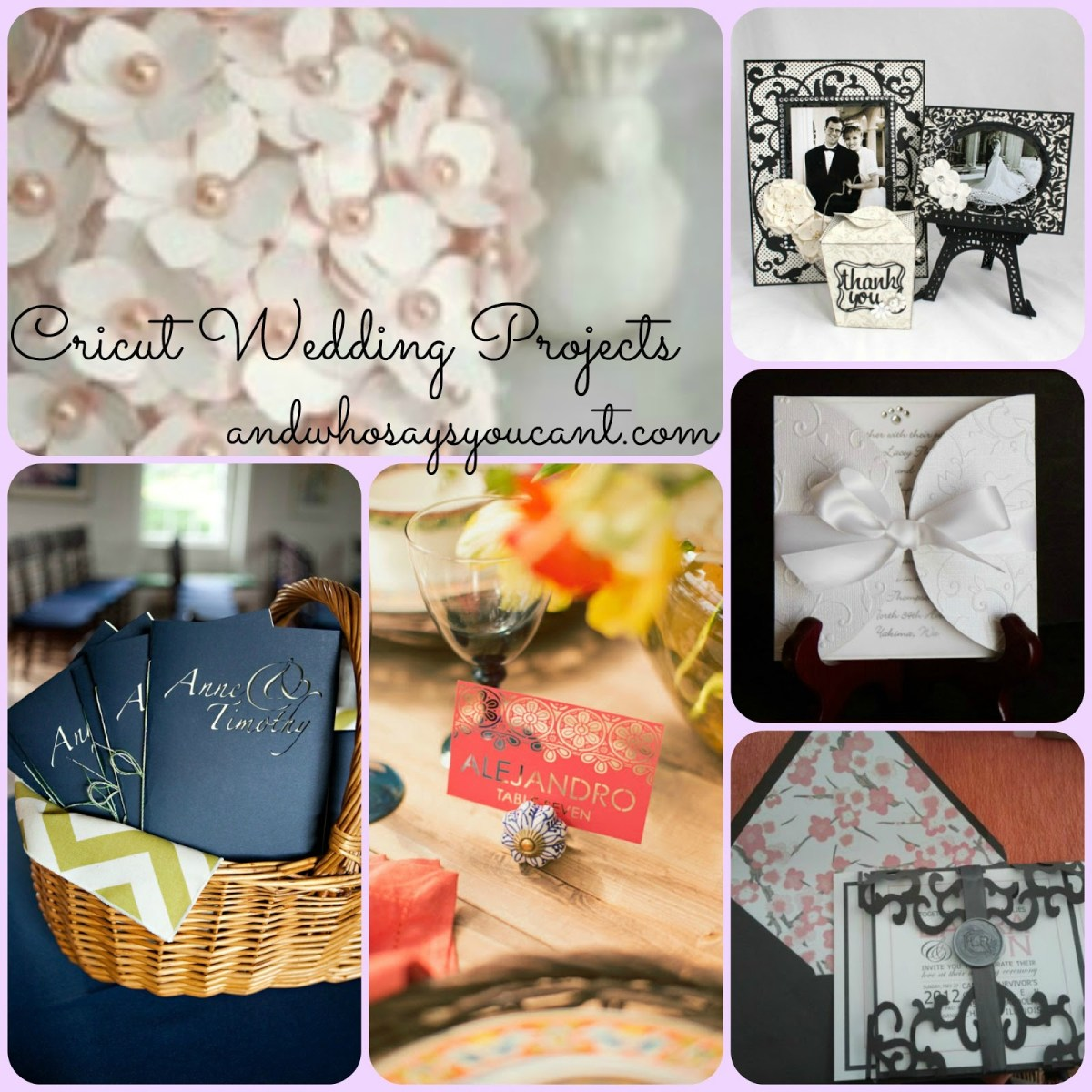 Cricut Wedding Projects And Who Says You Cant Diy Wedding Projects With Your Cricut