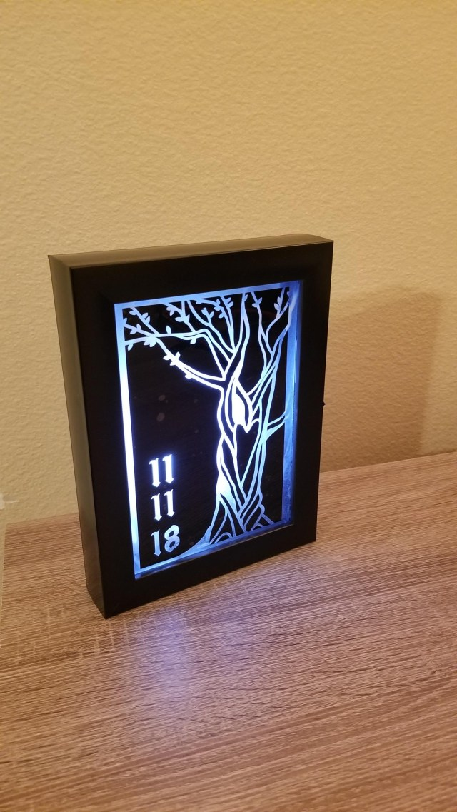 Cricut Wedding Projects Led Lightbox Project For My Fiance Were Putting A Lot Of Miles On
