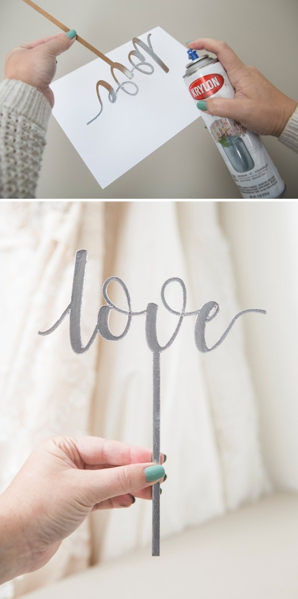 Cricut Wedding Projects You Have To See These Diy Custom Chipboard Cake Toppers