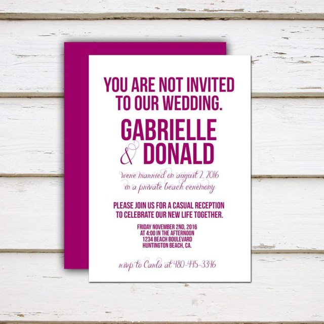 Cute Wedding Invitation Wording Funny Beach Wedding Invitation Wording Destination Elopement