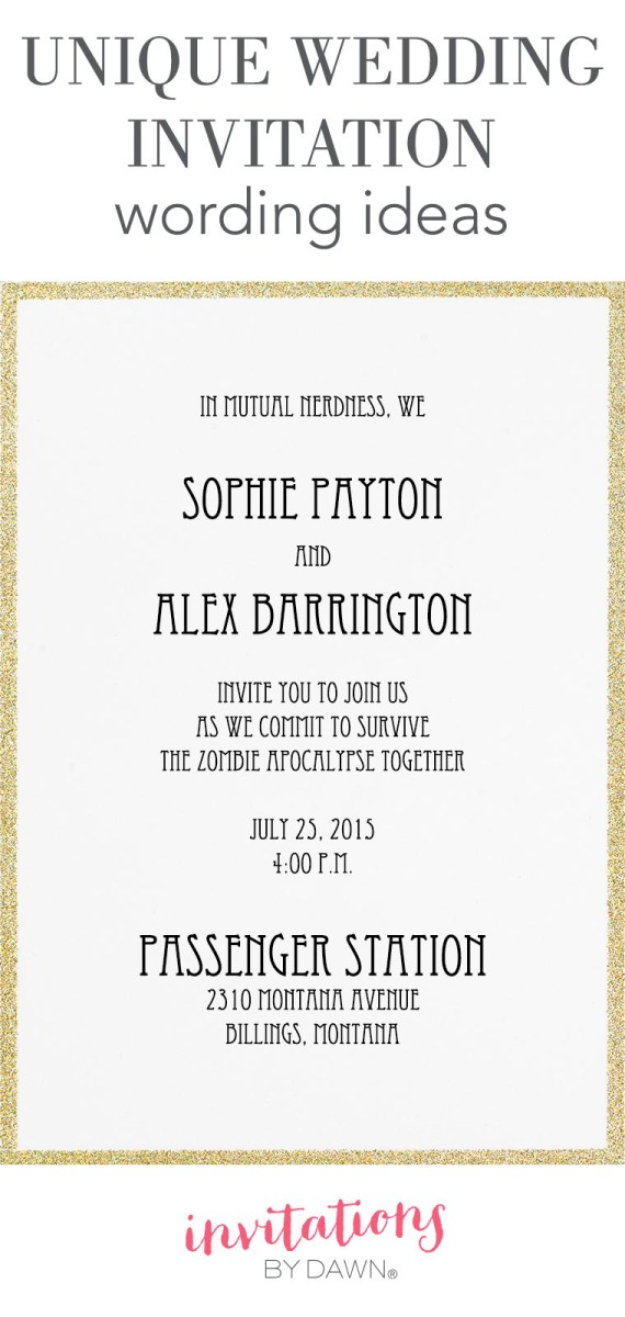 27+ Pretty Picture of Cute Wedding Invitation Wording