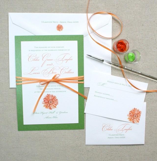 Daisy Wedding Invitations Daisy Bloom Floral Wedding Invitations Only At Mospens Studio