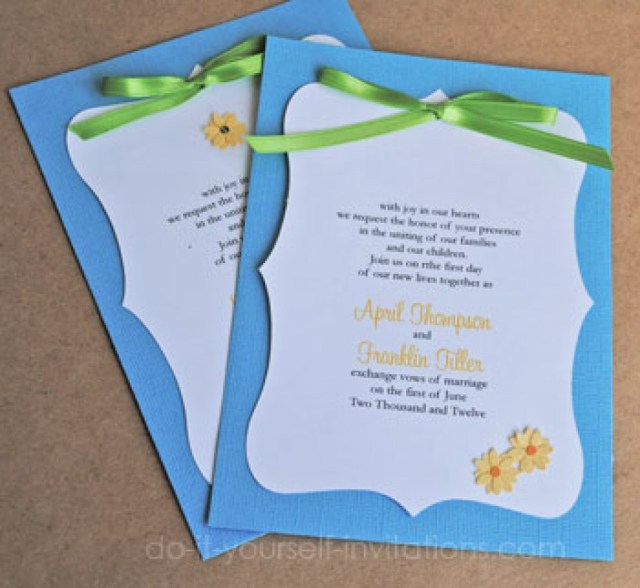 Daisy Wedding Invitations Do It Yourself Wedding Invitations Templates Elegant Daisy Wedding