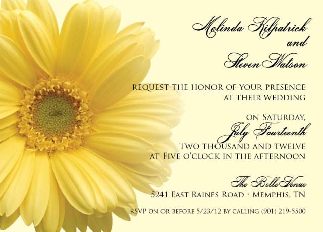 Daisy Wedding Invitations Yellow Daisy Dixons Printing