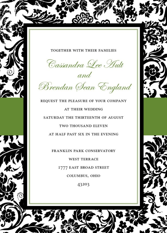 Damask Wedding Invitations Damask Wedding Invitations Kinderhooktap