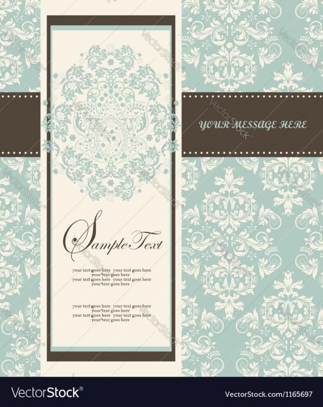 Damask Wedding Invitations Damask Wedding Invitations Royalty Free Vector Image
