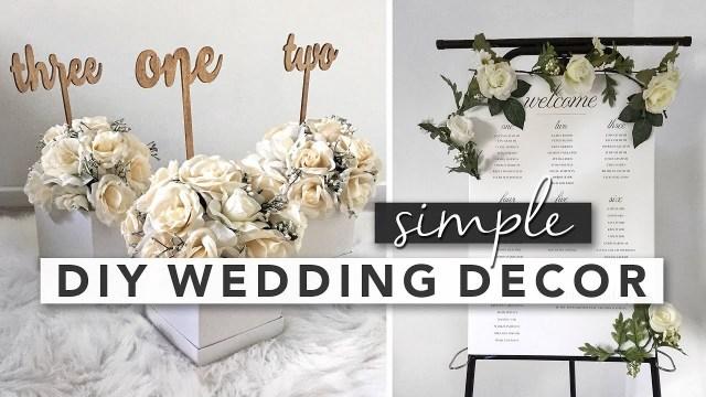 Decor Wedding Diy Simple Diy Wedding Decor Centerpieces Signs Party Favours Youtube