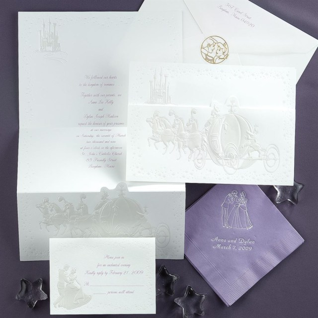 Disney Wedding Invitations Disney Dreams Come True Invitation Cinderella