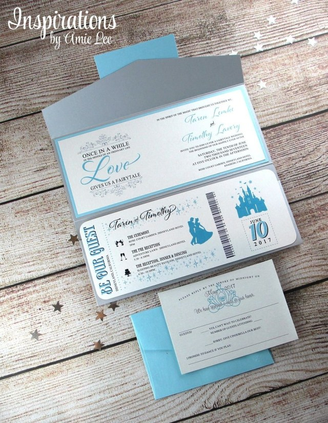 Disney Wedding Invitations Disney Themed Wedding Invites Insprirations Amielee