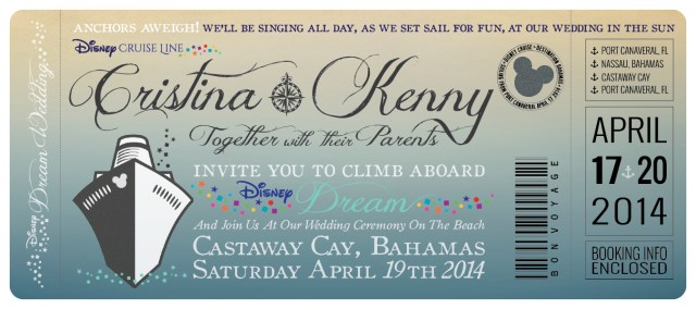 Disneyland Wedding Invitations Disney Cruise Wedding Invitations Great Heights Paper Hearts 3