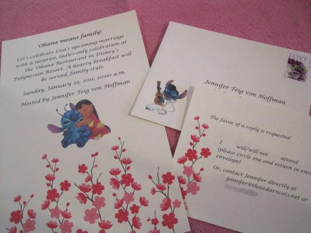 Disneyland Wedding Invitations Throwing A Disney Bridal Shower At Ohana Broke Hoedown