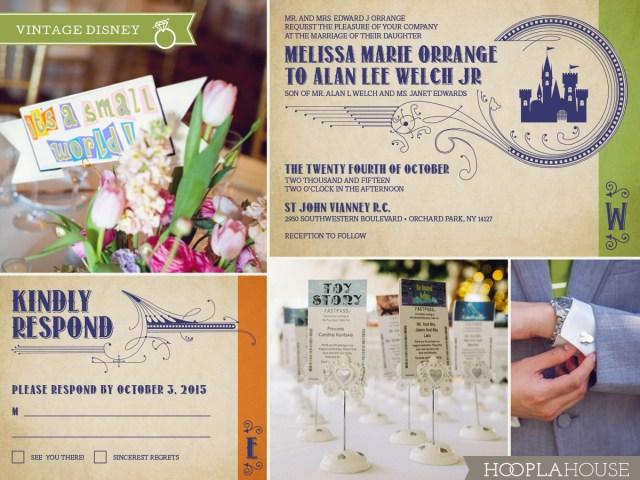 Disneyland Wedding Invitations Vintage Disney Wedding Invitations Hoopla House