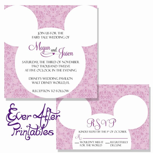 Disneyland Wedding Invitations Wedding Invitations Reviews Carte Invitation Disneyland Inspirant
