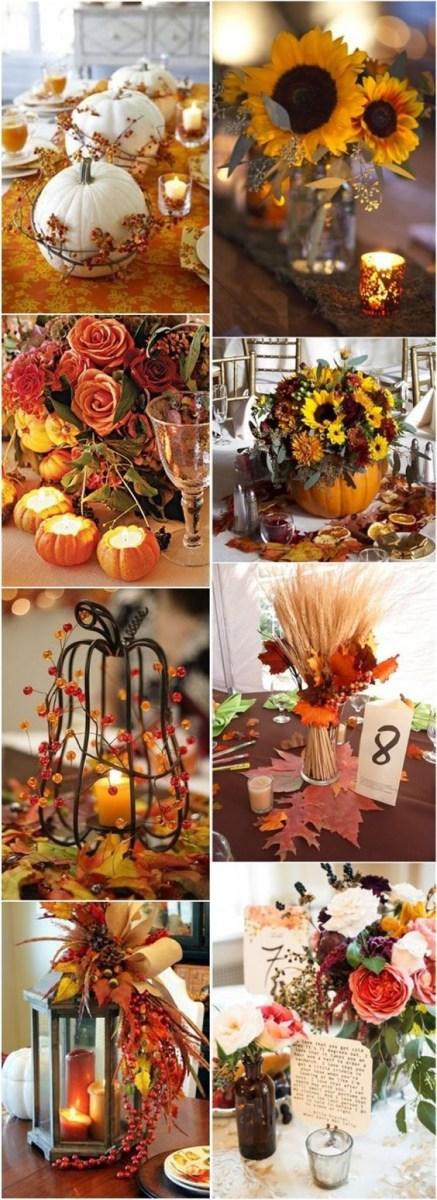 Diy Fall Wedding Ideas Fall Wedding Decor Ideas Autumn Fall Wedding Centerpieces Make Your
