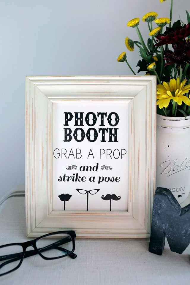 Diy Photobooth Wedding Instant Download 8x10 Photo Booth Sign Diy Wedding Reception