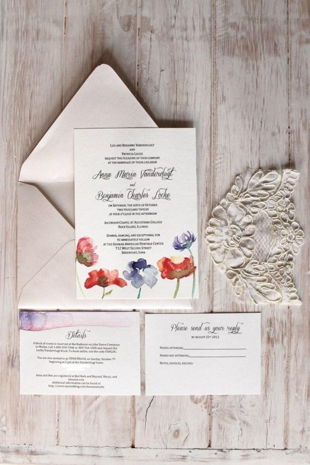 Diy Watercolor Wedding Invitations Diy Watercolor Wedding Invitations Paper Goods And Stationery
