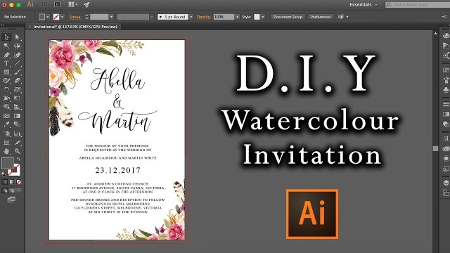 Diy Watercolor Wedding Invitations Diy Watercolour Flower Invitation Tutorial How To Make