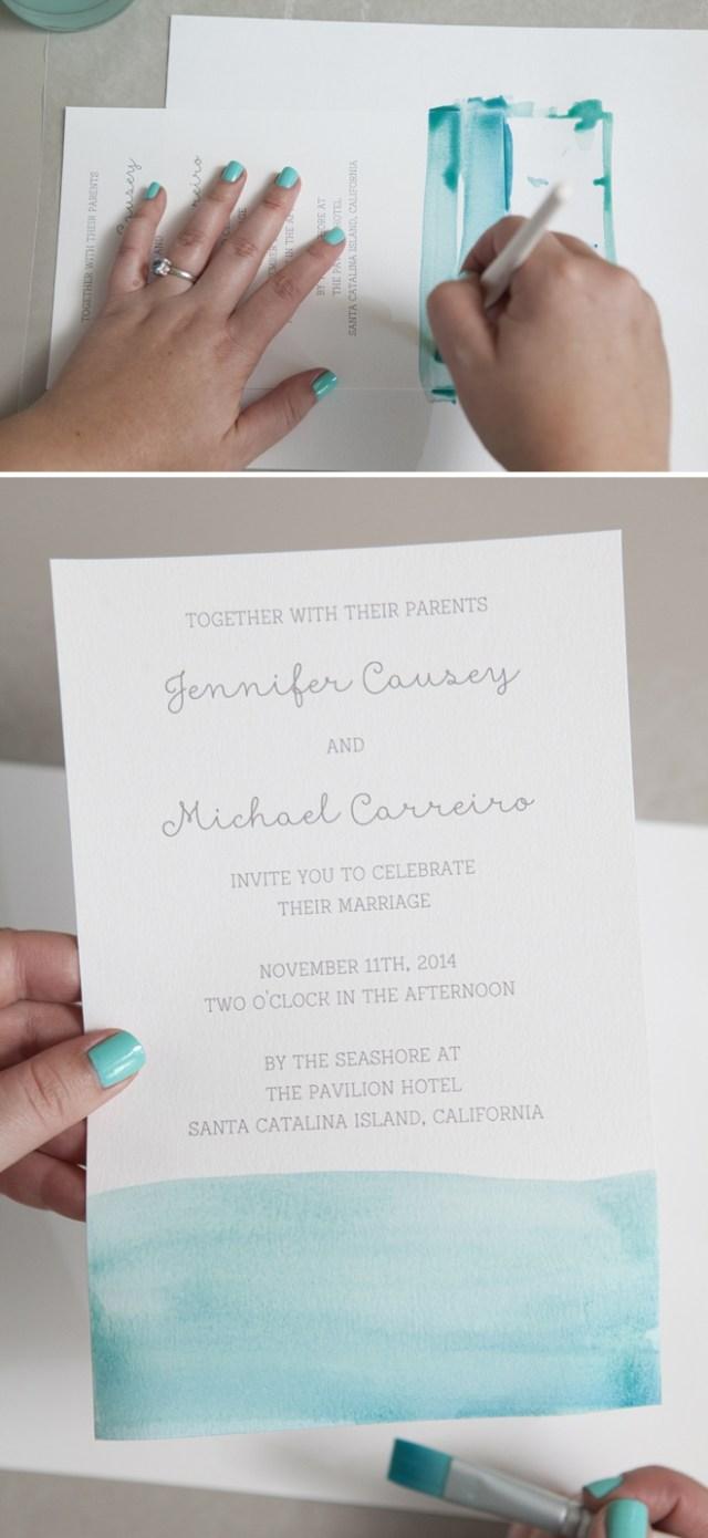 Diy Watercolor Wedding Invitations Learn Exactly How To Diy Watercolor Wedding Invitations