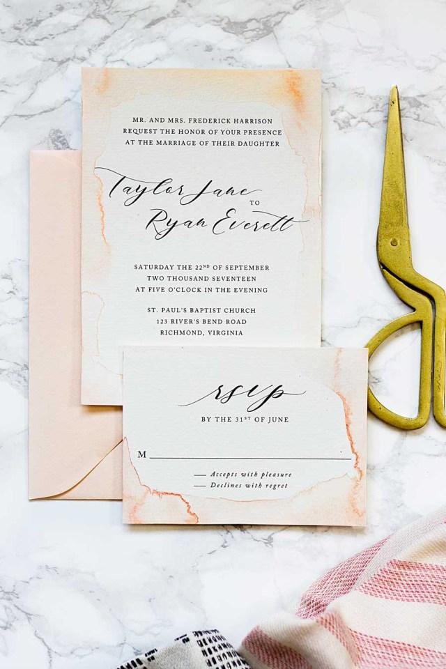 Diy Watercolor Wedding Invitations Subtle Watercolor Wedding Invitations How To Make Your Own