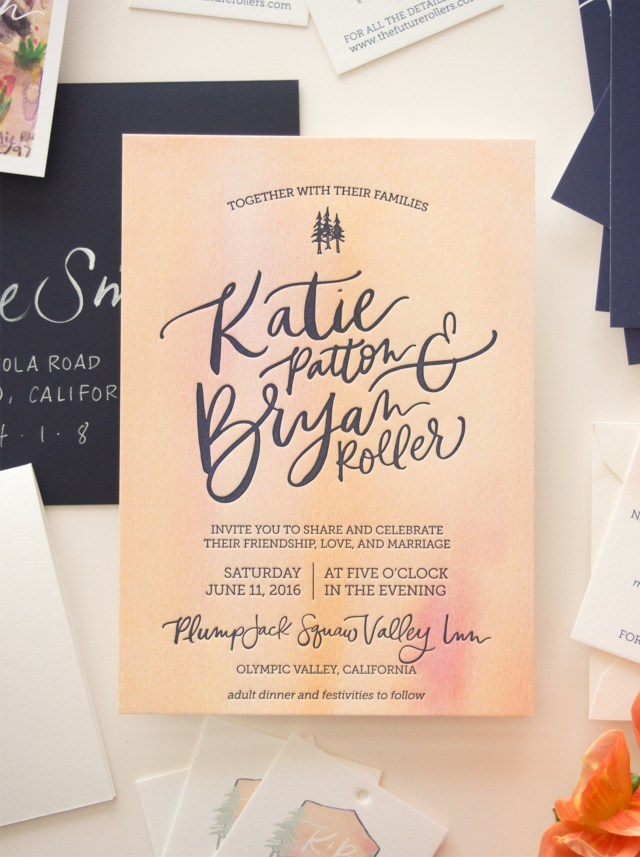 Diy Watercolor Wedding Invitations Vibrant Watercolor Crest Wedding Invitations