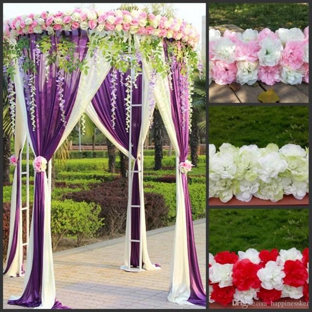 Diy Wedding Alter 2019 Cheap Diy Wedding Decoration Props Simulation Silk Flowers Rose