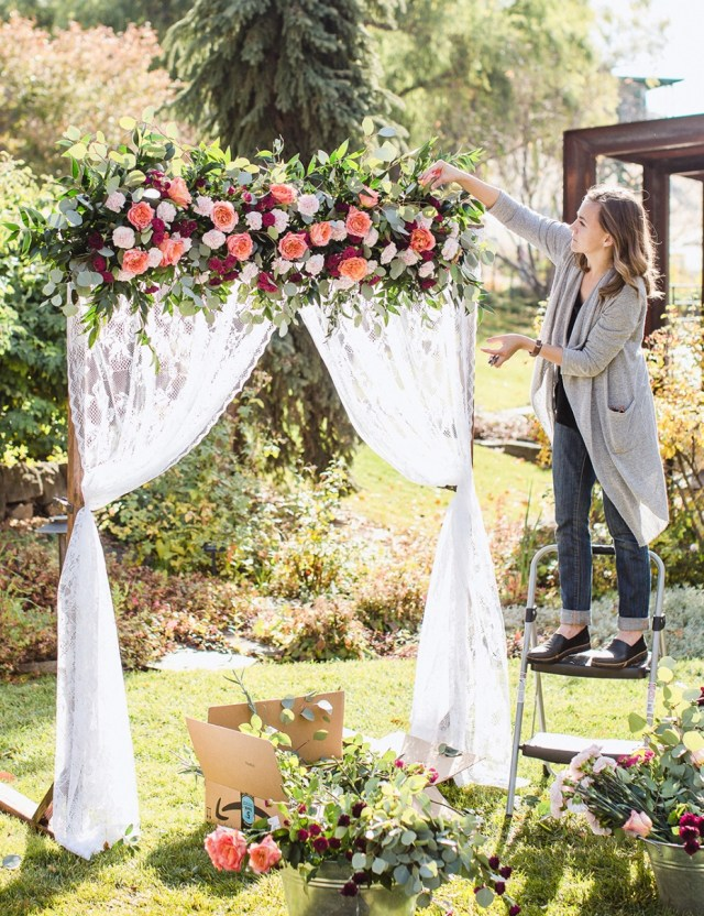 Diy Wedding Backdrop Diy Wedding Arbor From Fiftyflowers