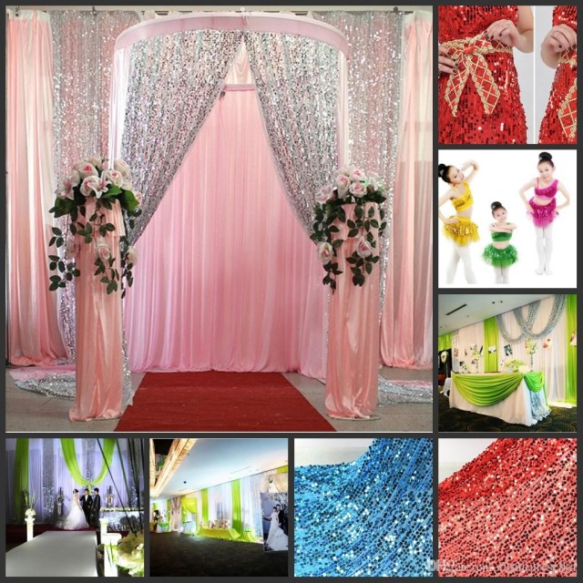 Diy Wedding Backdrop Multicolor Glitter Bling Sequins Cloth Diy Wedding Backdrop Curtains