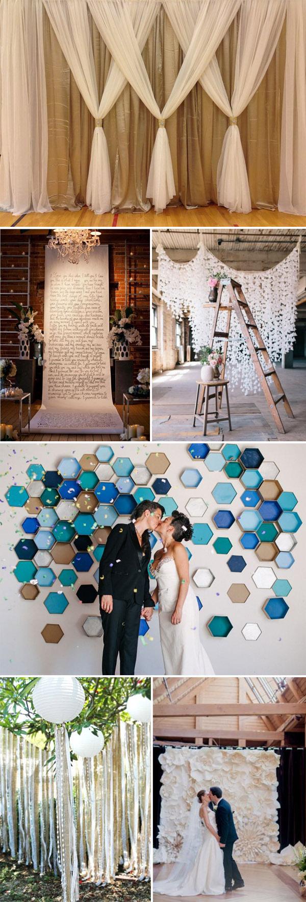 Diy Wedding Backdrop Top 20 Unique Backdrops For Wedding Ceremony Ideas