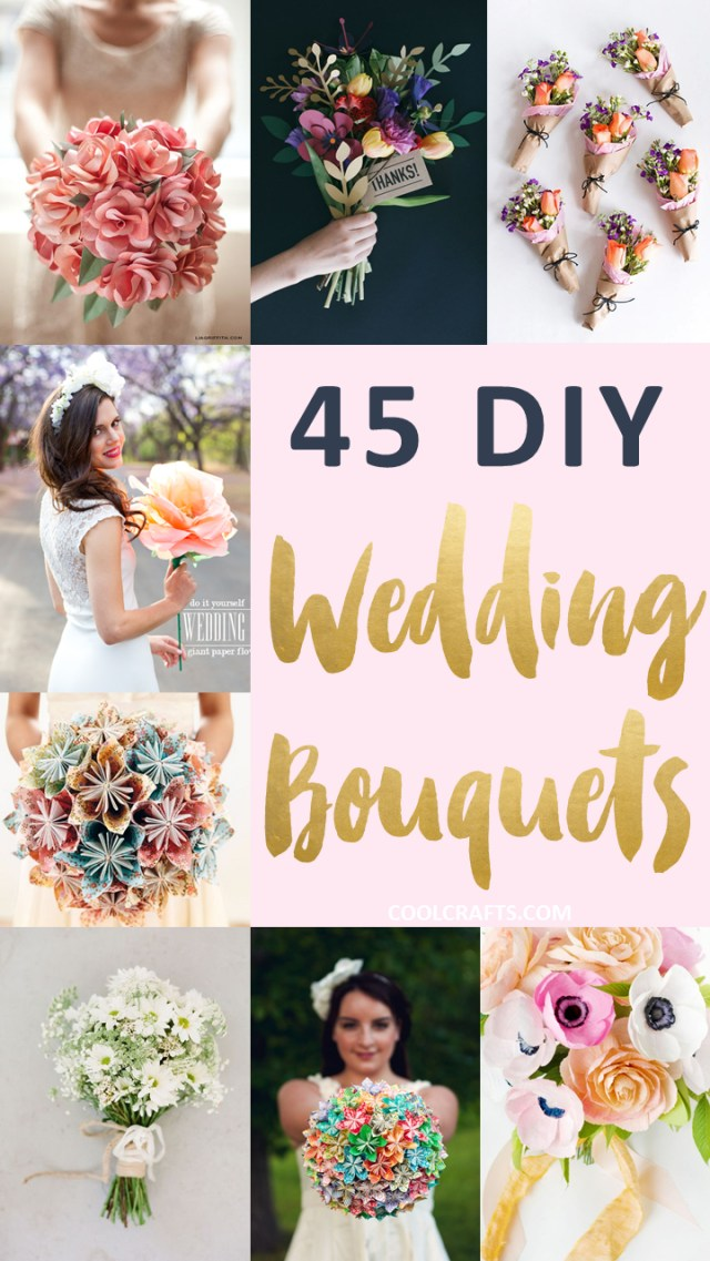 Diy Wedding Bouquet 45 Stunning Wedding Bouquets You Can Craft Yourself Cool Crafts