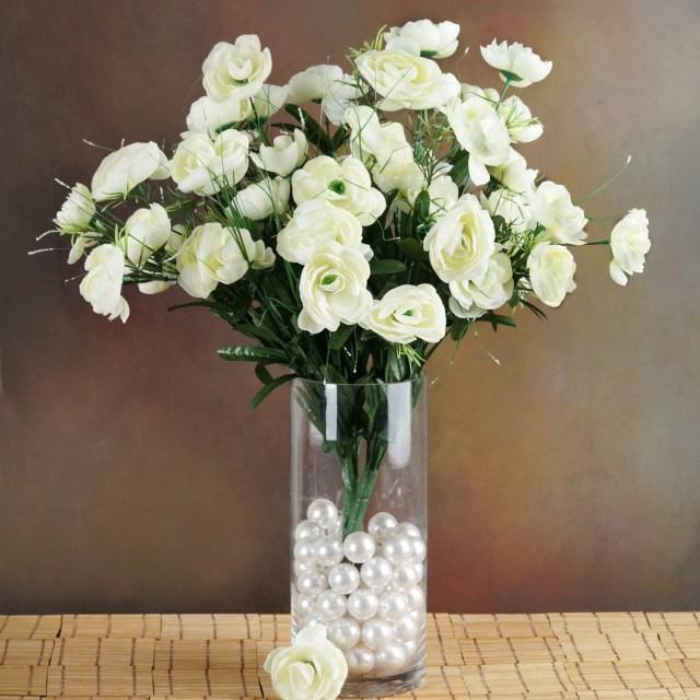 Diy Wedding Bouquet Efavormart 72 Pcs Artificial Ranunculus Flowers For Diy Wedding Bouquets Centerpieces Arrangement Party Home Decorations 4 Bushes