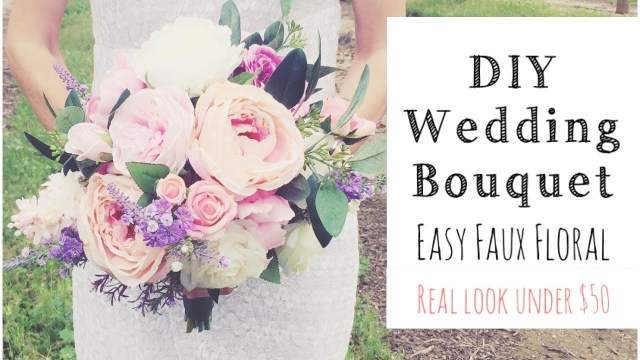 Diy Wedding Bouquet How To Make A Wedding Bouquet Diy Real Look Faux Floral Bouquet