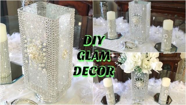 Diy Wedding Decor Ideas Dollar Store Diy Glam White Flowers Spring Wedding Centerpiece Diy