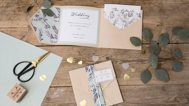 Diy Wedding Invitations Ideas Diy Homemade Wedding Invitations Sstrene Grene Youtube