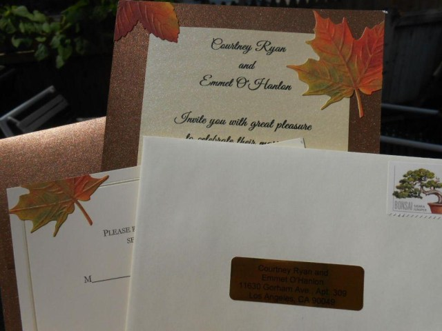 Diy Wedding Invitations Ideas Diy Wedding Ideas Handmade Fall Themed Wedding Invitations