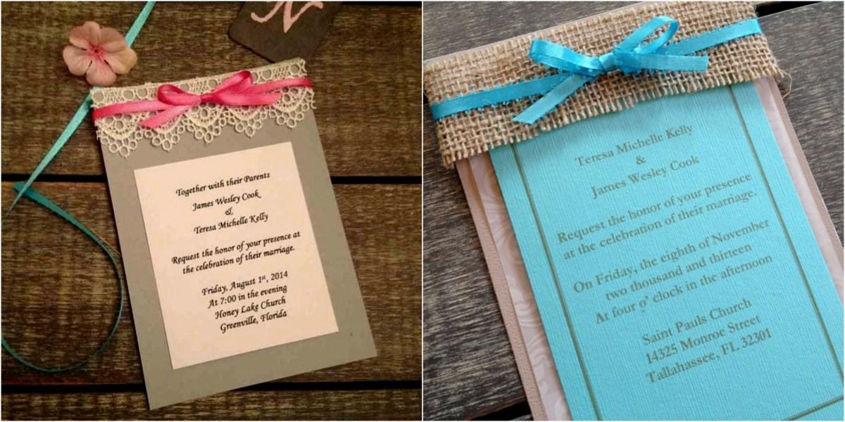 Diy Wedding Invitations Ideas Diy Wedding Invitation Idea