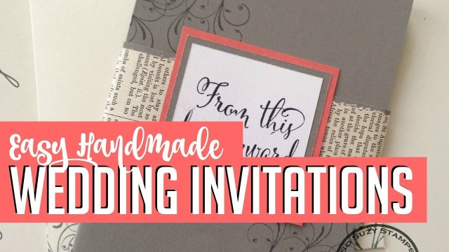 Diy Wedding Invitations Ideas Easy Diy Handmade Wedding Invitations How To Youtube