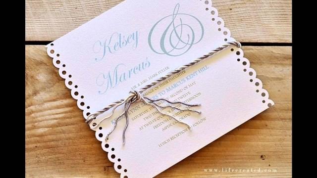 Diy Wedding Invitations Ideas Easy Simple Diy Wedding Invitation Ideas Youtube