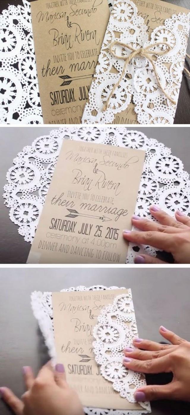 Diy Wedding Invitations Ideas Einladung 50 Unique Diy Wedding Invitation Ideas 2576530 Weddbook