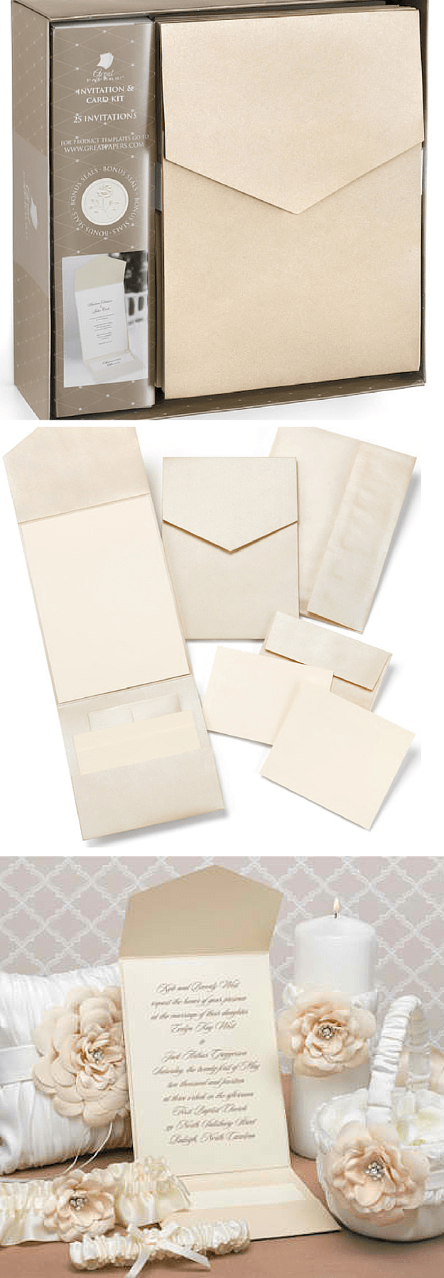 Diy Wedding Invitations Kits Custom Wedding Invitation Kits Diy Projects Craft Ideas How Tos