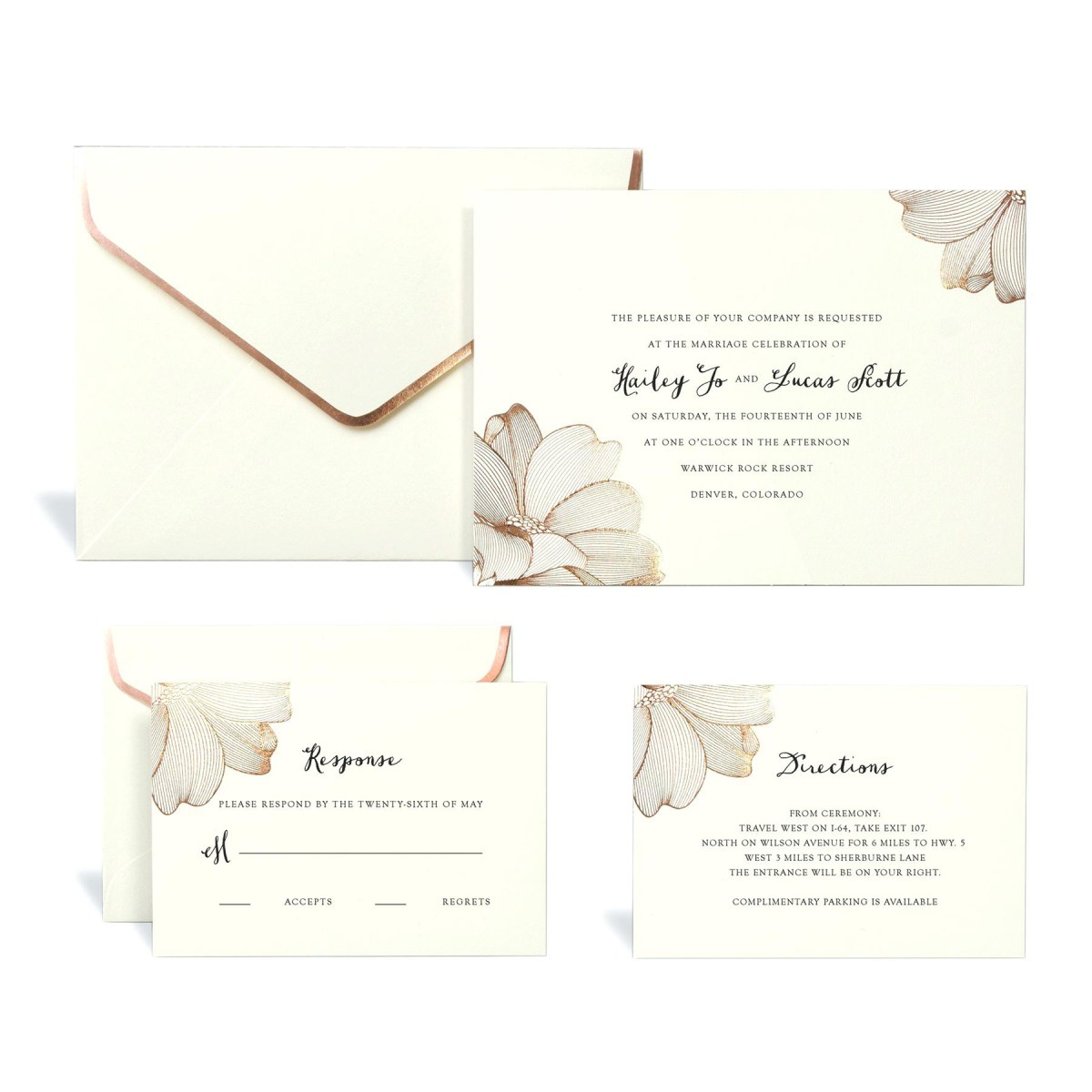 Diy Wedding Invitations Kits Wedding Invitation Kits Michaels With Rose Gold Floral Wedding