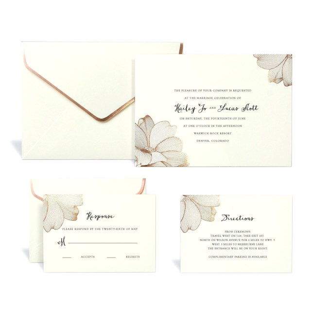 Diy Wedding Invitations Kits Wedding Invitation Kits Michaels With Rose Gold Floral Wedding