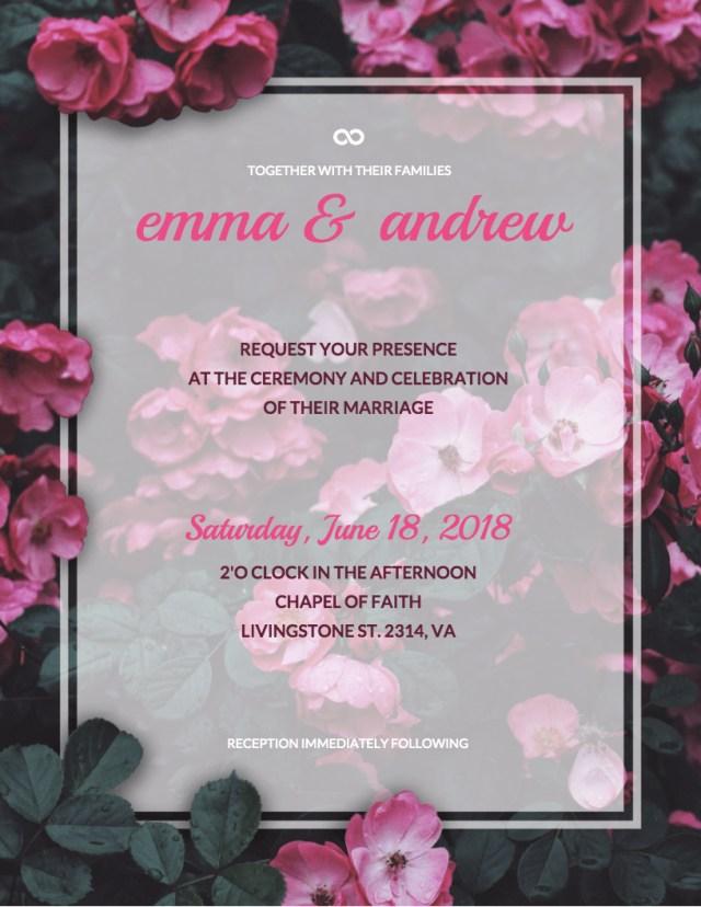 Diy Wedding Invitations Templates 19 Diy Bridal Shower And Wedding Invitation Templates Venngage