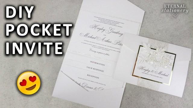 Diy Wedding Invitations Templates Diy Pocketfold Invitation With Printable Pocket Template Wedding
