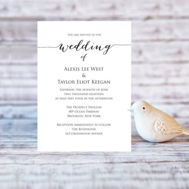 Diy Wedding Invitations Templates Wedding Invitation Template Editable Wedding Template Diy Wedding