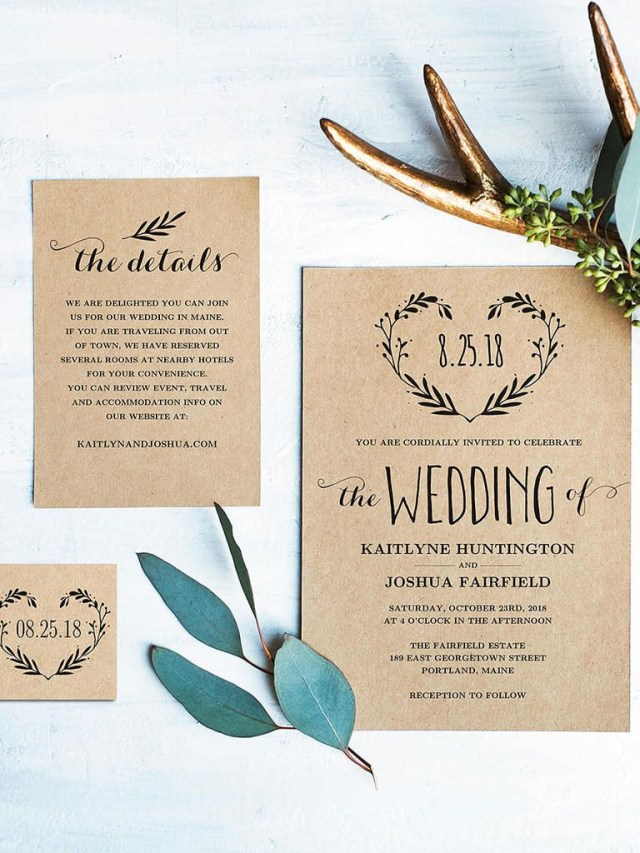 Diy Wedding Invites 16 Printable Wedding Invitation Templates You Can Diy Wedding