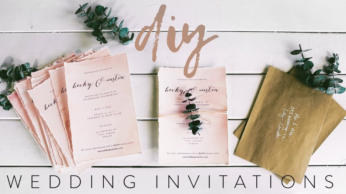 Diy Wedding Invites Diy My Wedding Invitations With Me Youtube