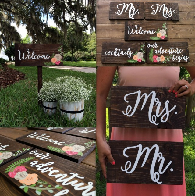 Diy Wedding Signs Diy Calligraphy Wedding Signs
