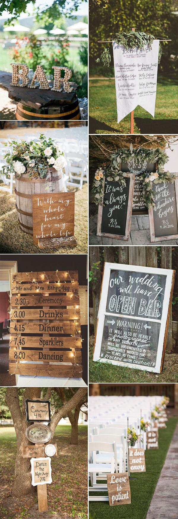 Diy Wedding Signs Pretty Budget Friendly Wedding Decorating Ideas 30 Easy To Do Rustic